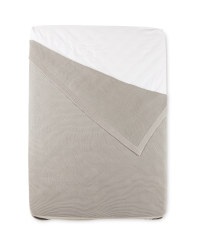 Kirkton House King Knitted Bedspread - Light Grey