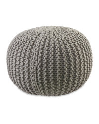 Kirkton House Knitted Pouffe - Light Grey