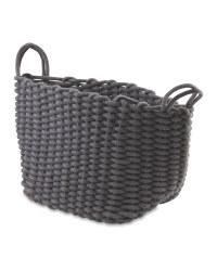 Kirkton House Knitted Storage Bag - Dark Grey