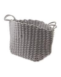 Kirkton House Knitted Storage Bag - Light Grey