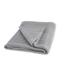 Kirkton House Knitted Throw - Grey