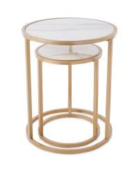 Kirkton House Marble Nested Tables