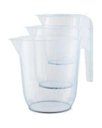 Kirkton House Measuring Jug 3 Pack - Grey