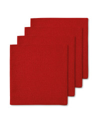 Kirkton House Napkins 4 Pack - Red