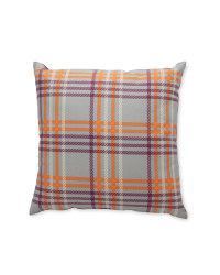 Kirkton House Purple Check Cushion