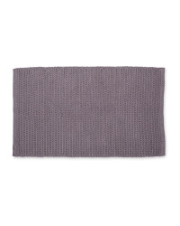 Kirkton House Rope Knit Bath Mat - Dark Grey