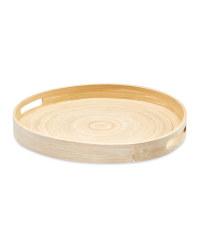 Kirkton House Round Bamboo Tray 35cm - Natural