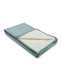 Kirkton House Sherpa Fleece Blanket - Grey