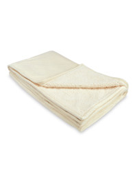 Kirkton House Sherpa Fleece Blanket - White