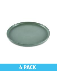 Kirkton House Stoneware Plate 4 Pack - Green