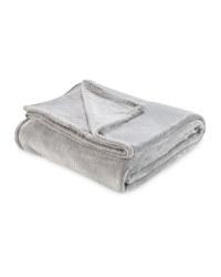 Kirkton House Super Soft Throw - Light Grey