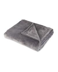 Kirkton House Super Soft Throw - Dark Grey