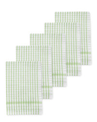 Kirkton House Tea Towels 5-Pack - Green