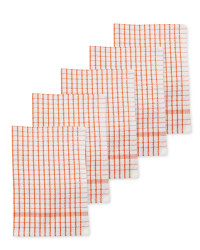Kirkton House Tea Towels 5-Pack - Red