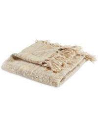 Kirkton House Tonal Weave Throw - Natural