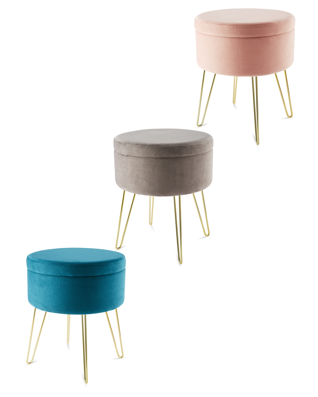 Awe Inspiring Kirkton House Velvet Stool Creativecarmelina Interior Chair Design Creativecarmelinacom