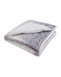Kirkton House Velvet Throw - Pewter Grey