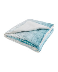 Kirkton House Velvet Throw - Teal