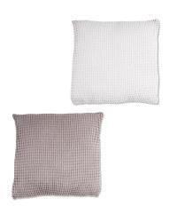 Kirkton House Waffle Knit Cushion