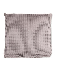 Kirkton House Waffle Knit Cushion - Dark Grey