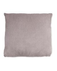 Kirkton House Waffle Knit Cushion - Dark Grey