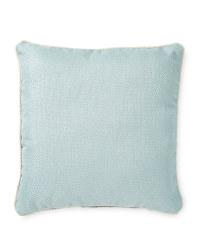 Kirkton House Weave Cushion - Duck Egg