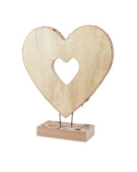 Kirkton House Wooden Heart Ornament