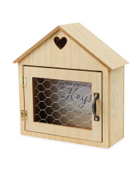 Kirkton House Wooden House Key Box