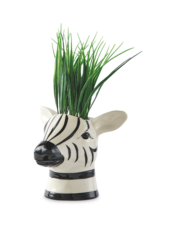 Zebra Artificial Pot Plant
