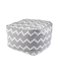 Kirkton House Zigzag Grey Bean Cube