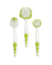 Green Kitchen Brush Set