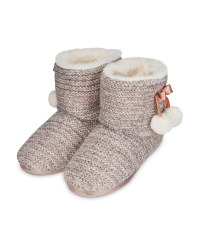 Avenue Ladies' Knitted Pom Pom Boots