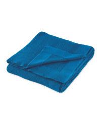 Kirkton House King Knitted Throw - Blue