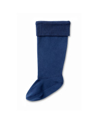 Crane Knitted Top Kids Welly Socks - Navy