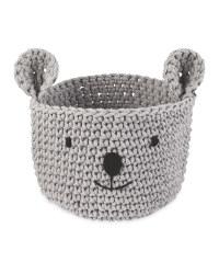 Koala Grey Crochet Animal Basket