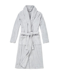 Ladies' Plush Bathrobe - Grey
