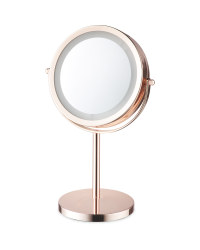 Rose Gold LED Beauty Mirror