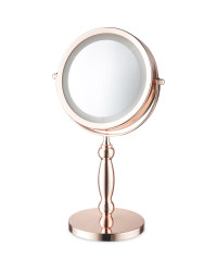Classic Rose Gold LED Beauty Mirror