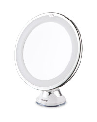 Chrome LED Suction Cup Mirror