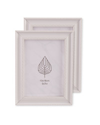 Lace Effect Frames 2 Pack - White