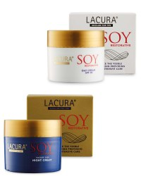 Lacura SOY Day and Night Cream Set