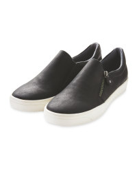Ladies' Black Comfort Slip On Shoes
