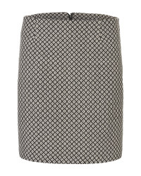 Ladies' Black Diamond Print Skirt