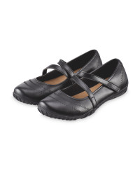 Ladies' Black PU Flexible Shoes