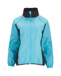 Ladies' Blue Cycling Rain Jacket