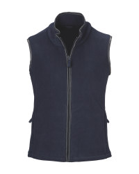 Crane Blue Ladies' Fleece Gilet