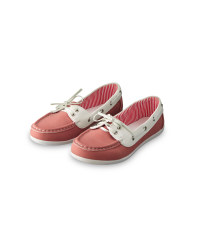 Ladies' Boat Shoes - Pink & White