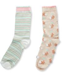 Ladies' Bunny Socks 2-Pack