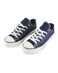 Avenue Ladies' Canvas Trainers - Navy