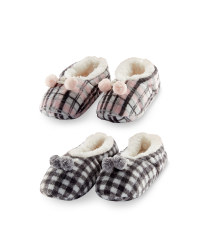 Ladies' Check Slipper Socks
